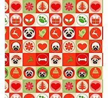 Sweet Christmas Pugs 3 Photographic Print