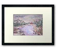 Christmas in the Mountains  Framed Print