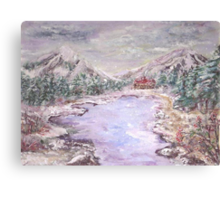 Christmas in the Mountains  Canvas Print