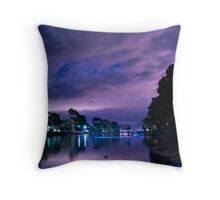 Bioluminescent Canal Throw Pillow
