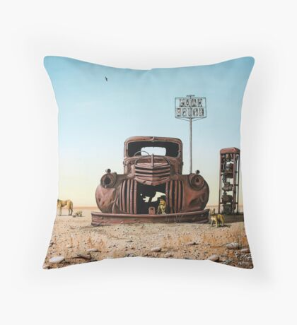 Looking For Fuel Throw Pillow