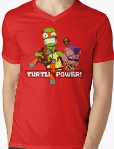 Turtle Power! Mens V-Neck T-Shirt