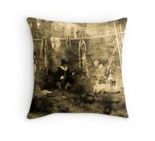 Humble Beginnings-Jamestown, Va Throw Pillow