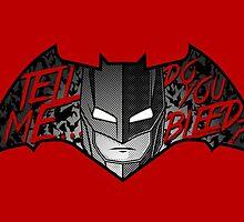 Batman DO YOU BLEED? (ver. transparent text) by shaostudio