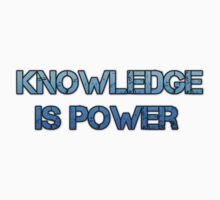 Knowledge is Power Text Kids Tee