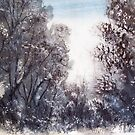 Morning Snow, Thredbo, Australia by Angela Gannicott