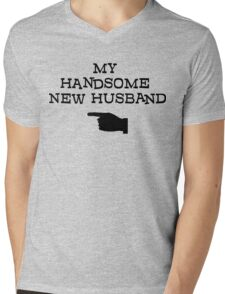 Just Married Mens V-Neck T-Shirt