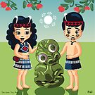 Poi, Haka and Friendly Tiki by contourcreative