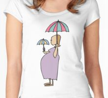 Pregnant New Mother Mother's Day Women's Fitted Scoop T-Shirt
