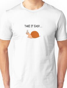 Take It Easy Cute Cartoon Snail Unisex T-Shirt
