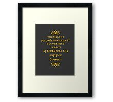Hobbit Meals Framed Print