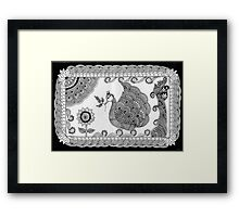 Ornate Peacock Framed Print