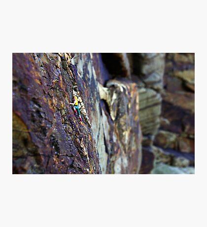 Rock Climber Photographic Print