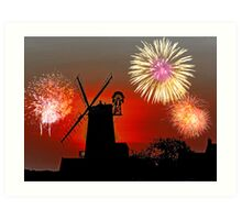 Cley Fawkes Night Art Print