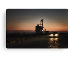 Evening drive Canvas Print