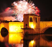 St Ives Bridge fireworks by Rachel Slater