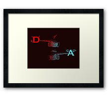 Angels and Devils, the Equation in color Framed Print