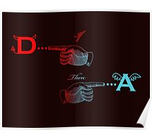 Angels and Devils, the Equation in color Poster
