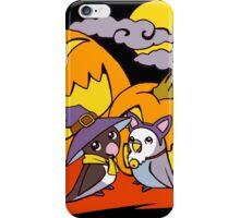 Cute birds halloween party illustration iPhone Case/Skin