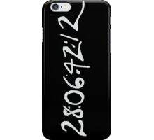 Donnie Darko Numbers (Black) iPhone Case/Skin