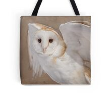 Barn Owl with Textures Tote Bag