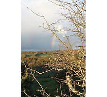 Rainbow on the moors Photographic Print