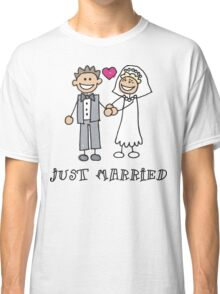 """Wedding Day """"Just Married"""" Classic T-Shirt"""