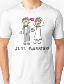 """Wedding Day """"Just Married"""" Unisex T-Shirt"""