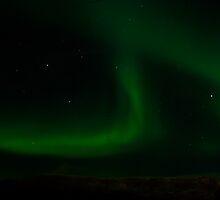 Lights over Mt. Esja by Ólafur Már Sigurðsson