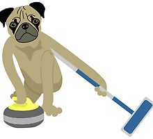 Pug Curling by pounddesigns