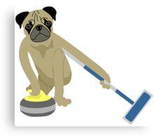 Pug Curling Canvas Print