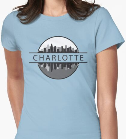 Charlotte North Carolina Womens Fitted T-Shirt