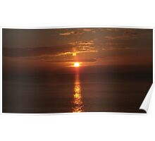 Sea Sunsets over Wales IIII Poster