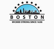 Boston Massachusetts Wicked Strong Since 1630 Womens Fitted T-Shirt