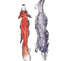 Foxie N Wolfie by Quentin LE GARREC