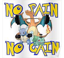 No pain no gain Pokemon Poster