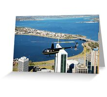 Flight Over Perth Greeting Card