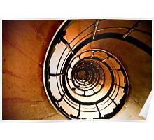 Arc de Triomphe Spiral Stairwell Poster