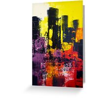 Abstract City Scape Greeting Card