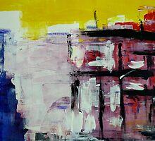 Untitled Abstract Acrylic by Angela Gannicott