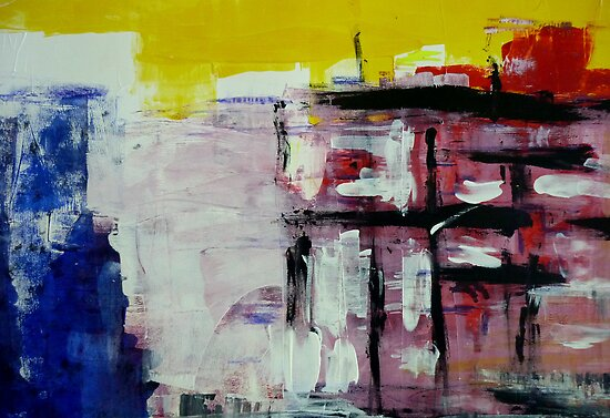 Untitled Abstract Acrylic by Angela Gannicott