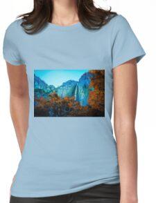 Yosemite Mountains Womens Fitted T-Shirt