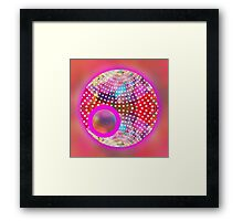 red abstract,graphic design,fun,colorful,happy,sci fi, Framed Print