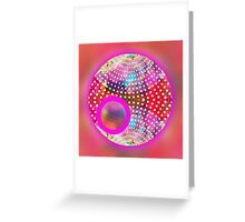 red abstract,graphic design,fun,colorful,happy,sci fi, Greeting Card