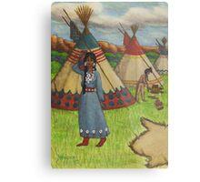 Blackfoot Indians Metal Print