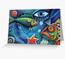 Hello fishies 2 Greeting Card