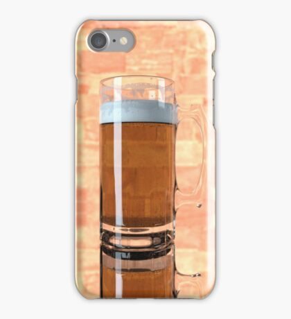 a glass of beer  iPhone Case/Skin