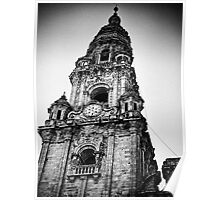 Clock tower, Santiago de compostela Poster