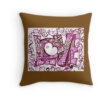 Love in Chocolate and Raspberry Creme Throw Pillow