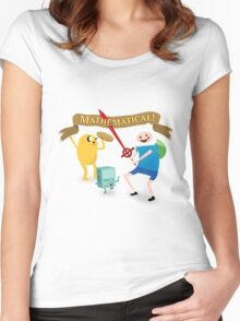 Mathematical Adventure Time! Women's Fitted Scoop T-Shirt